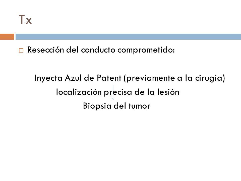 Tx Resección del conducto comprometido: