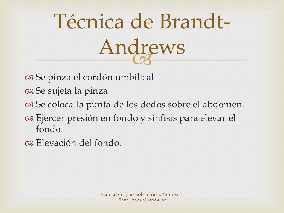 Técnica de Brandt-Andrews