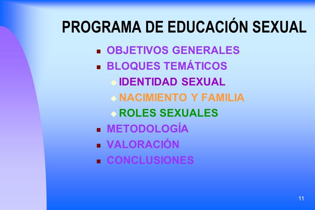 PROGRAMA DE EDUCACIÓN SEXUAL