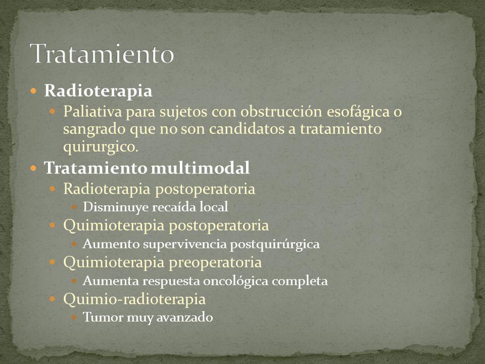 Tratamiento Radioterapia Tratamiento multimodal