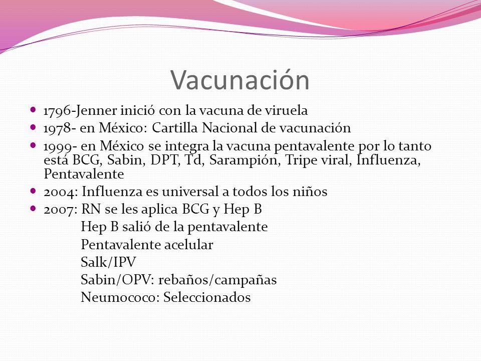 Vacunación 1796-Jenner inició con la vacuna de viruela