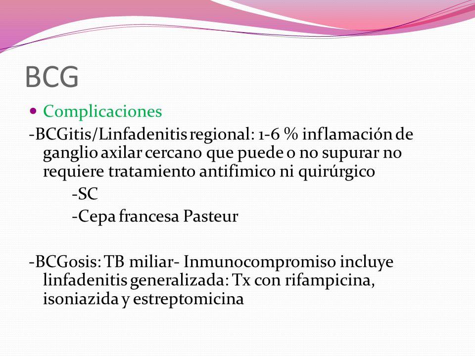 BCG Complicaciones.