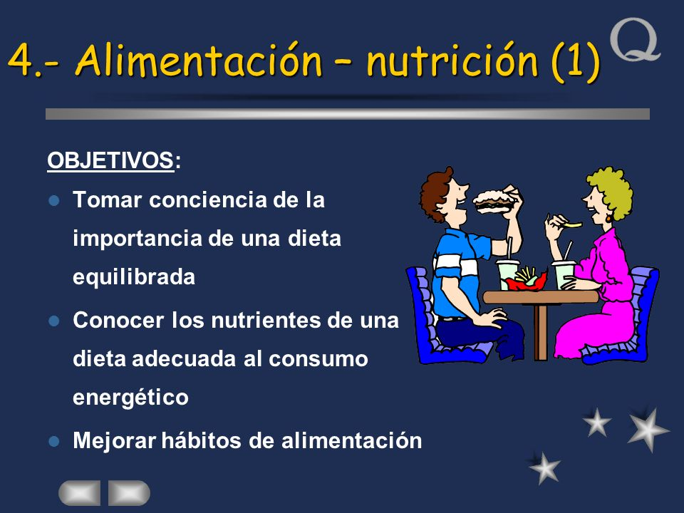 4.- Alimentación – nutrición (1)