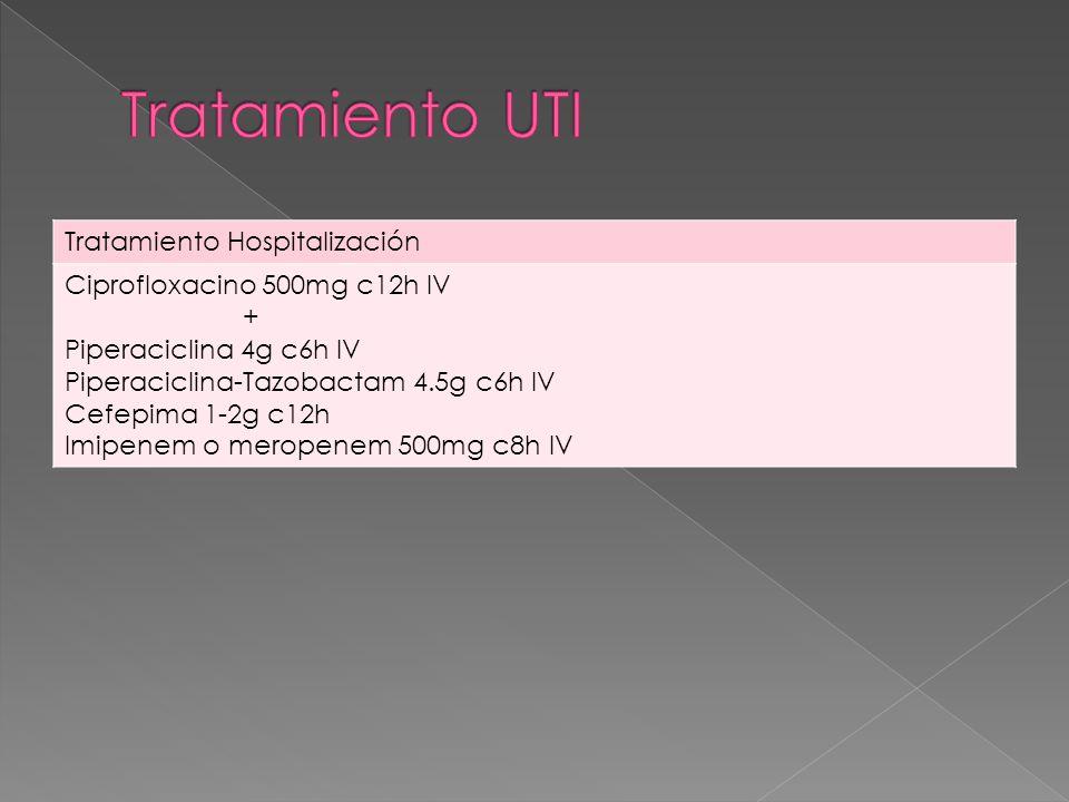 Tratamiento UTI Tratamiento Hospitalización