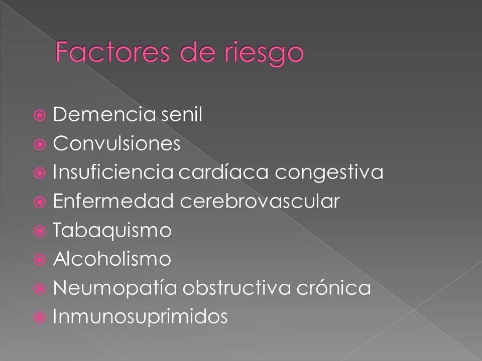 Factores de riesgo Demencia senil Convulsiones