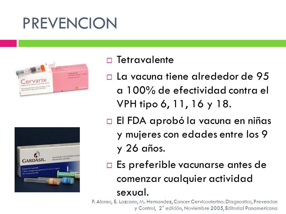 PREVENCION Tetravalente
