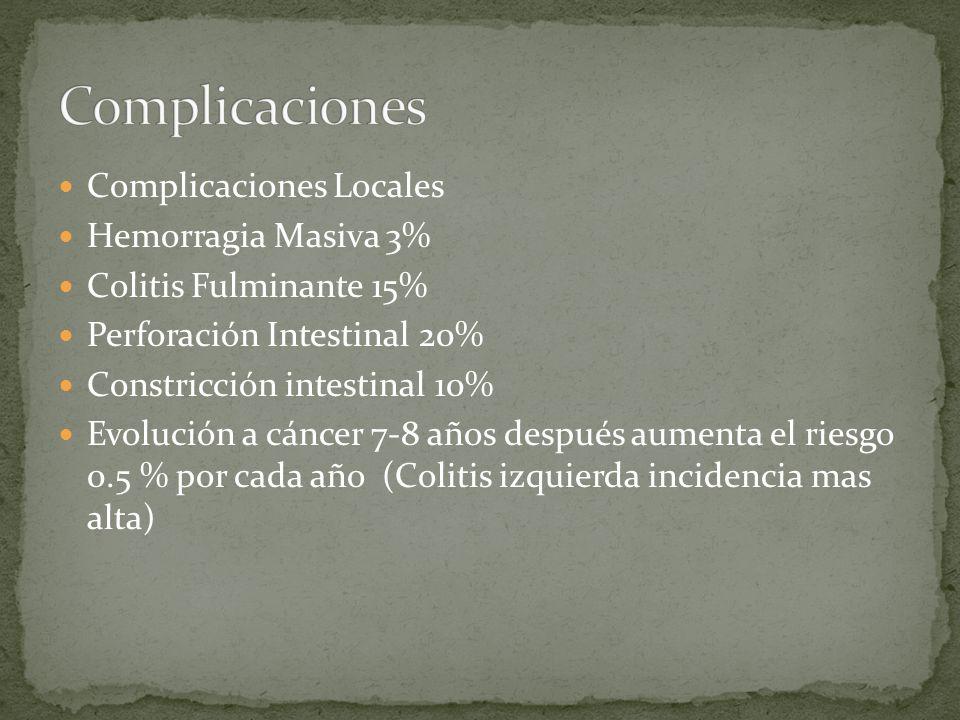 Complicaciones Complicaciones Locales Hemorragia Masiva 3%