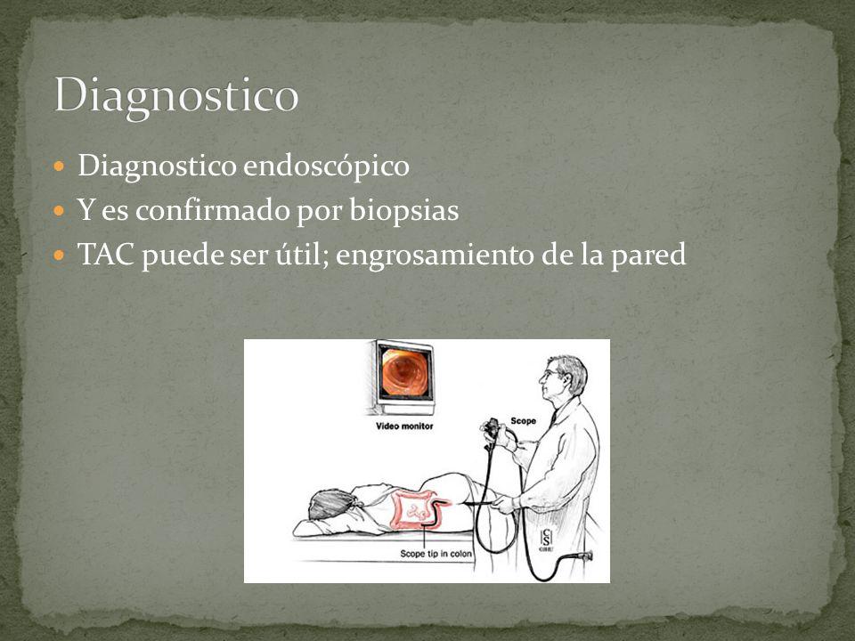 Diagnostico Diagnostico endoscópico Y es confirmado por biopsias