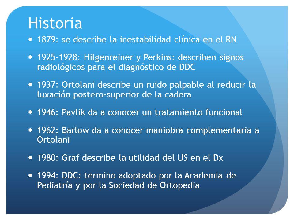 Historia 1879: se describe la inestabilidad clínica en el RN
