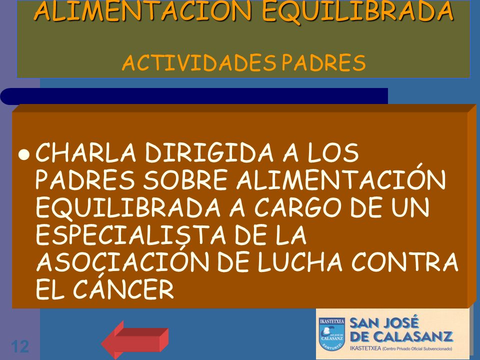 ALIMENTACION EQUILIBRADA ACTIVIDADES PADRES