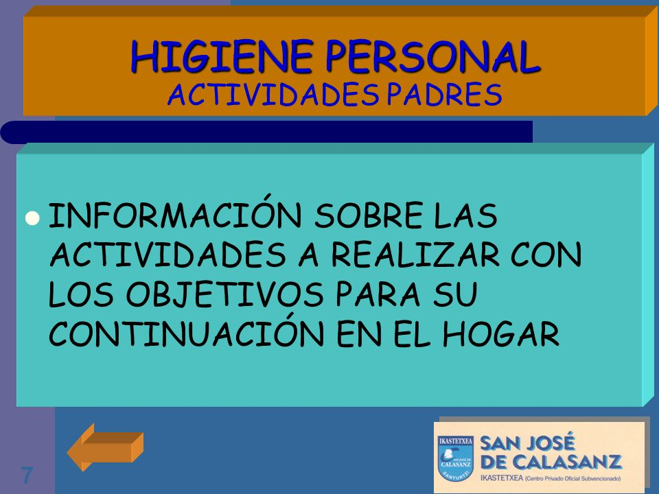 HIGIENE PERSONAL ACTIVIDADES PADRES