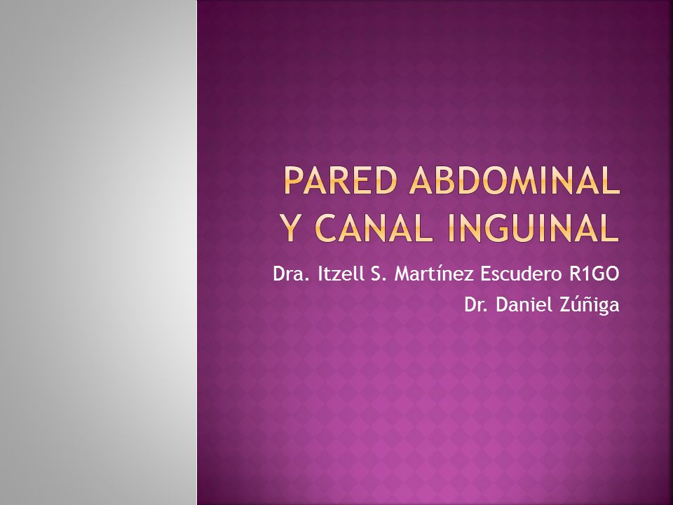Pared abdominal y canal inguinal