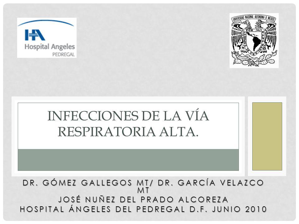 Infecciones de la vía respiratoria alta.
