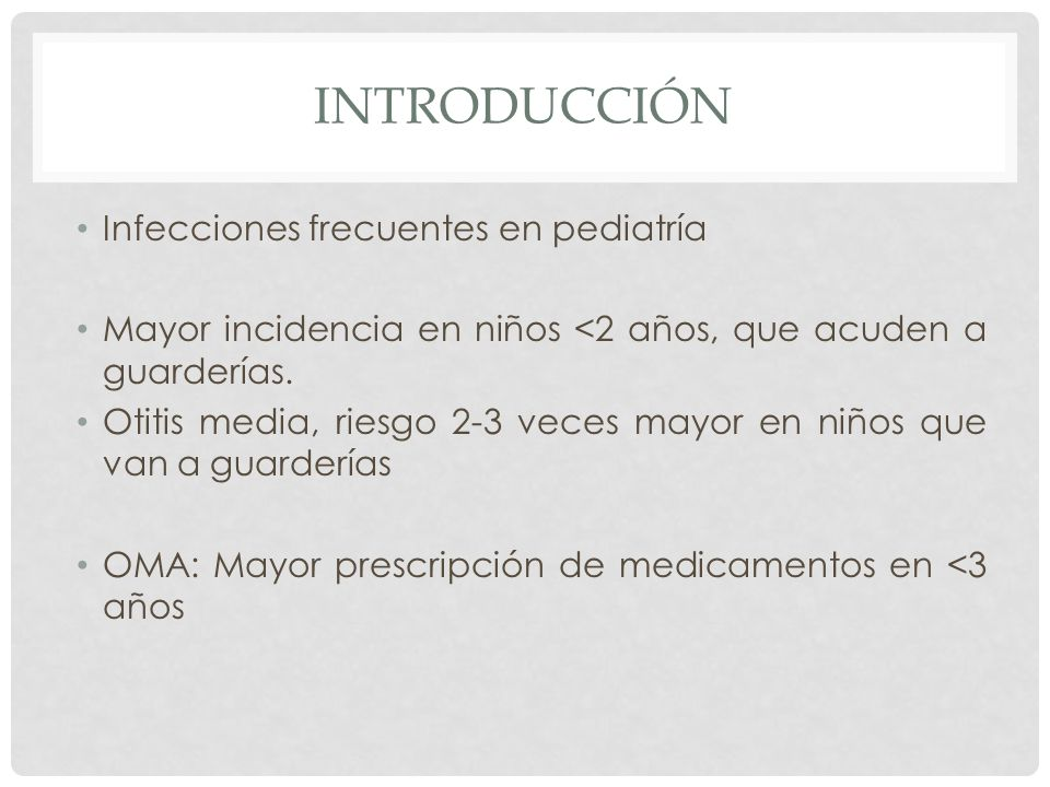 Introducción Infecciones frecuentes en pediatría
