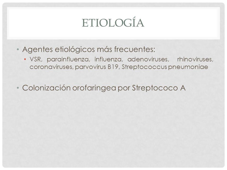 Etiología Agentes etiológicos más frecuentes: