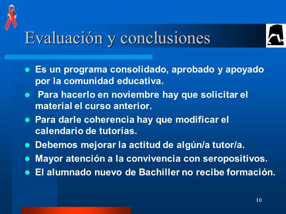 Evaluación y conclusiones