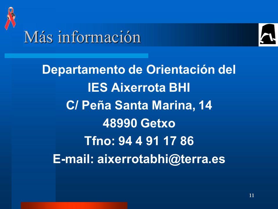 Departamento de Orientación del E-mail: aixerrotabhi@terra.es