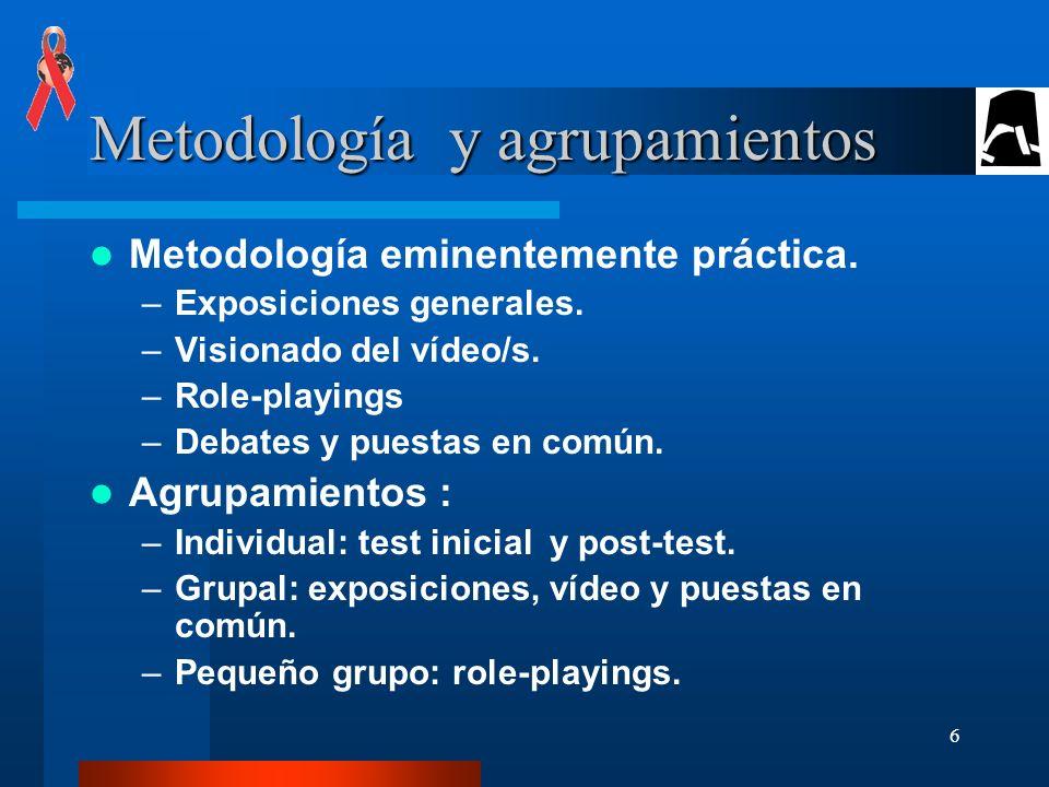 Metodología y agrupamientos