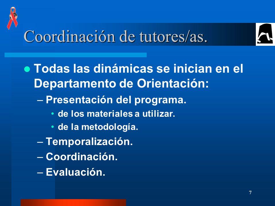 Coordinación de tutores/as.