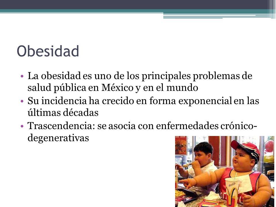 Obesidad La obesidad es uno de los principales problemas de salud pública en México y en el mundo.