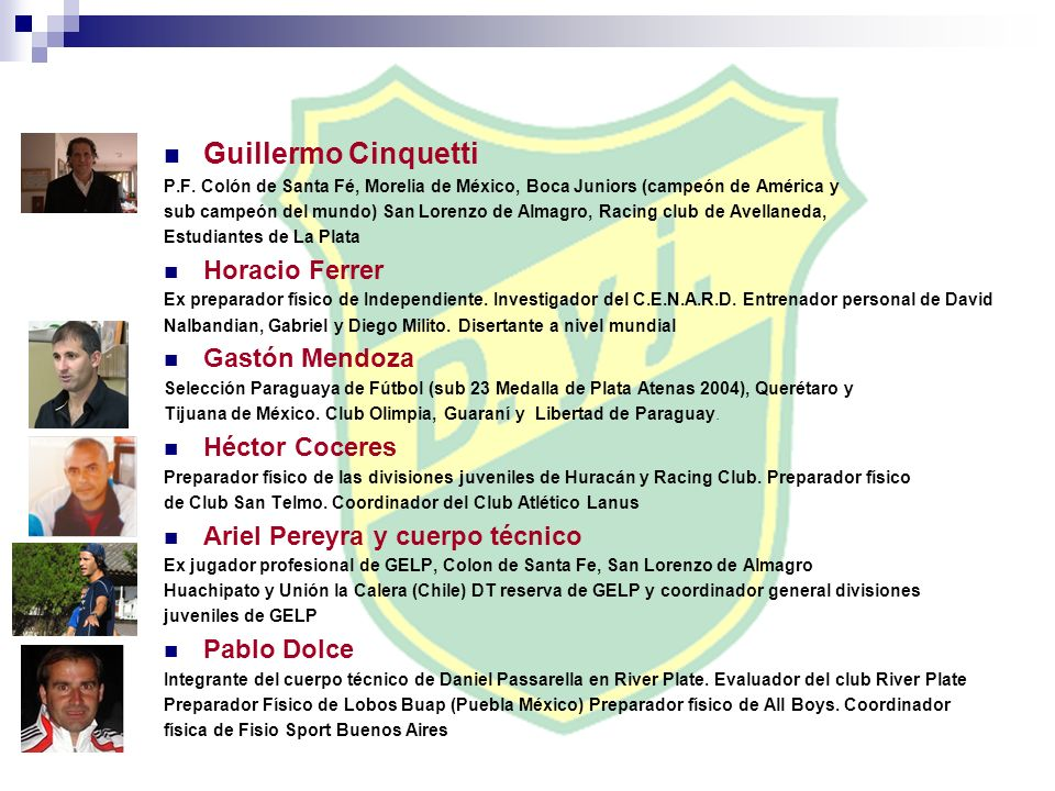Guillermo Cinquetti Horacio Ferrer Gastón Mendoza Héctor Coceres