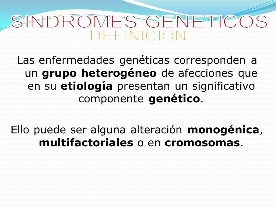 SINDROMES GENETICOS DEFINICION