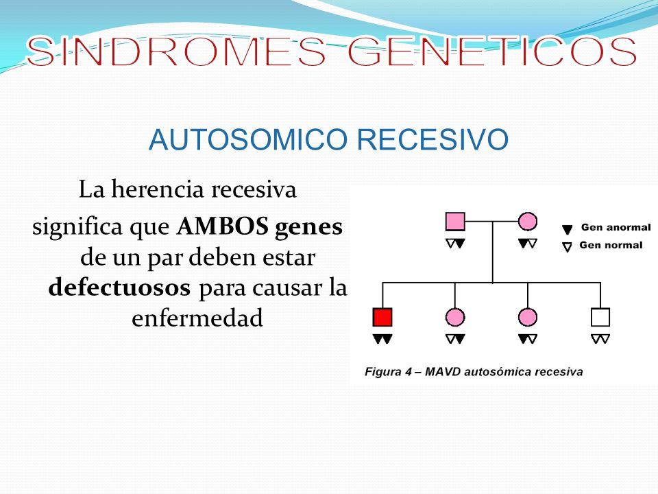SINDROMES GENETICOS AUTOSOMICO RECESIVO