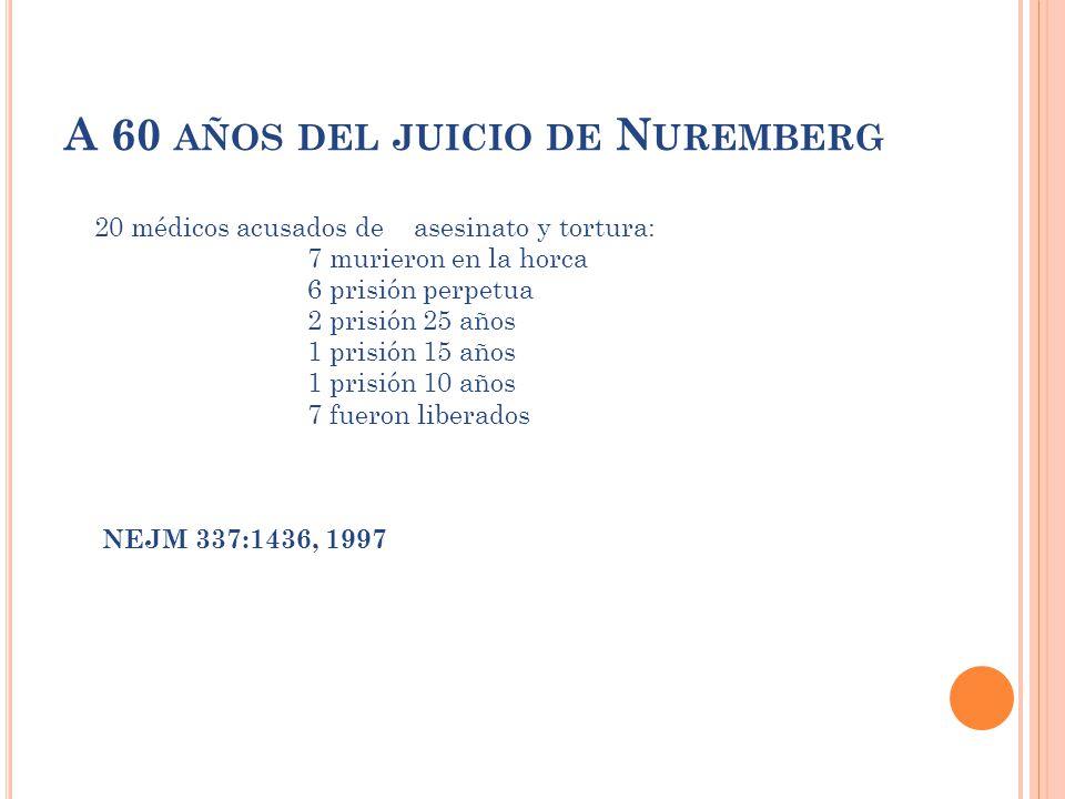 A 60 años del juicio de Nuremberg