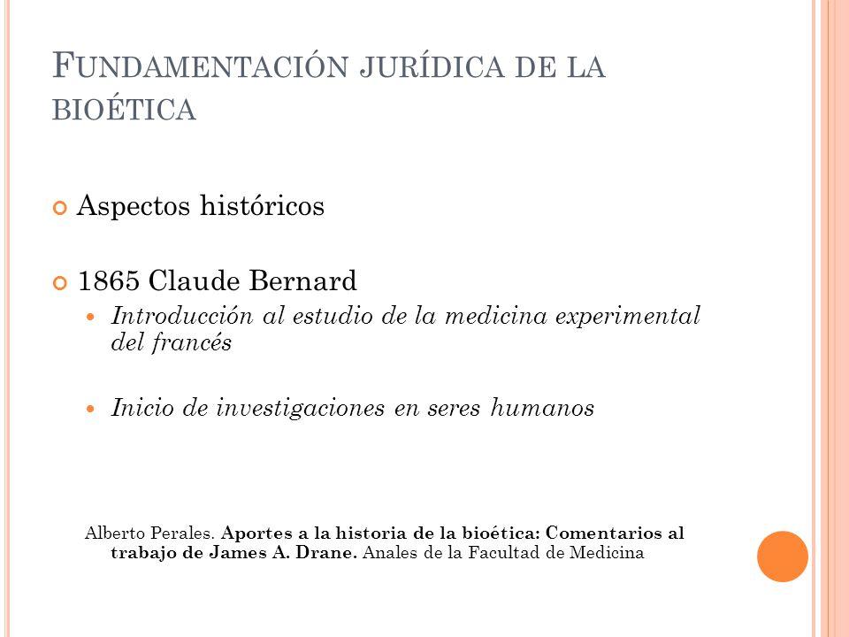 Fundamentación jurídica de la bioética