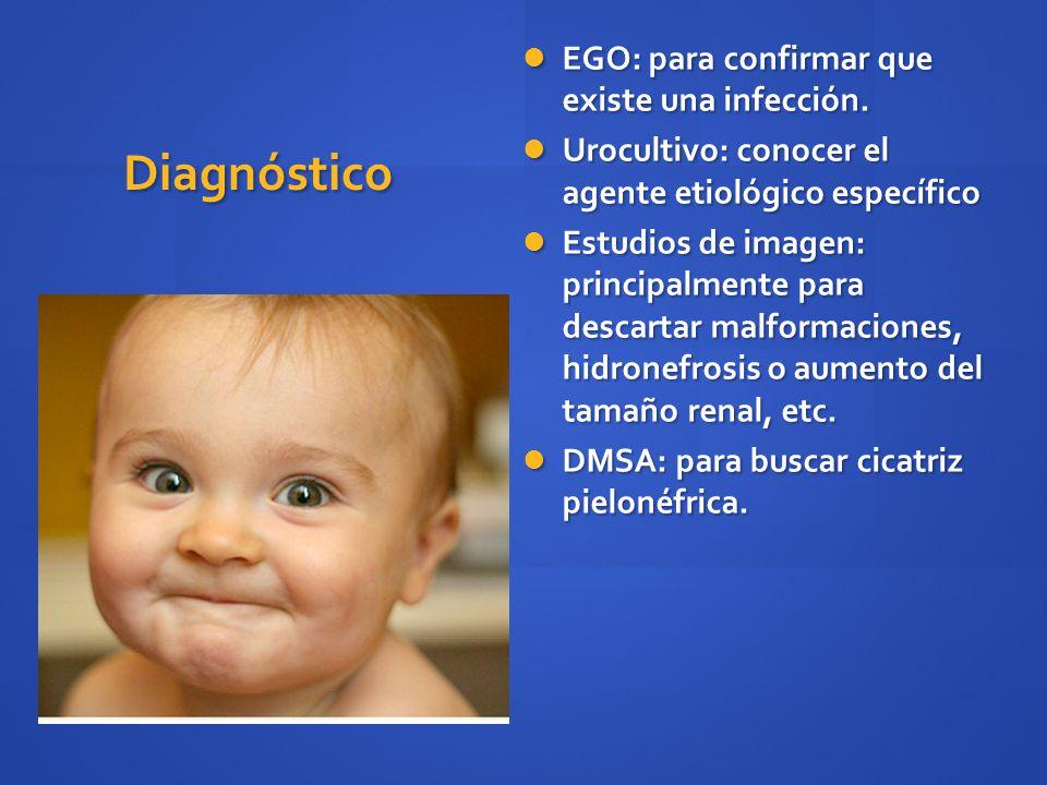 Diagnóstico EGO: para confirmar que existe una infección.