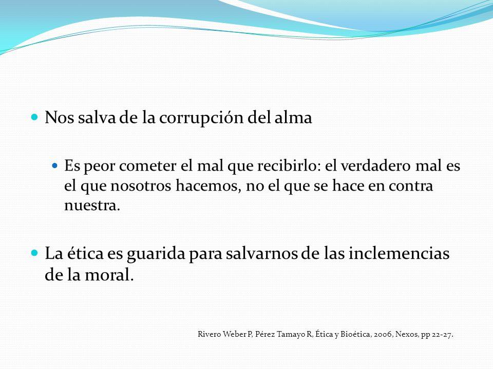 Nos salva de la corrupción del alma