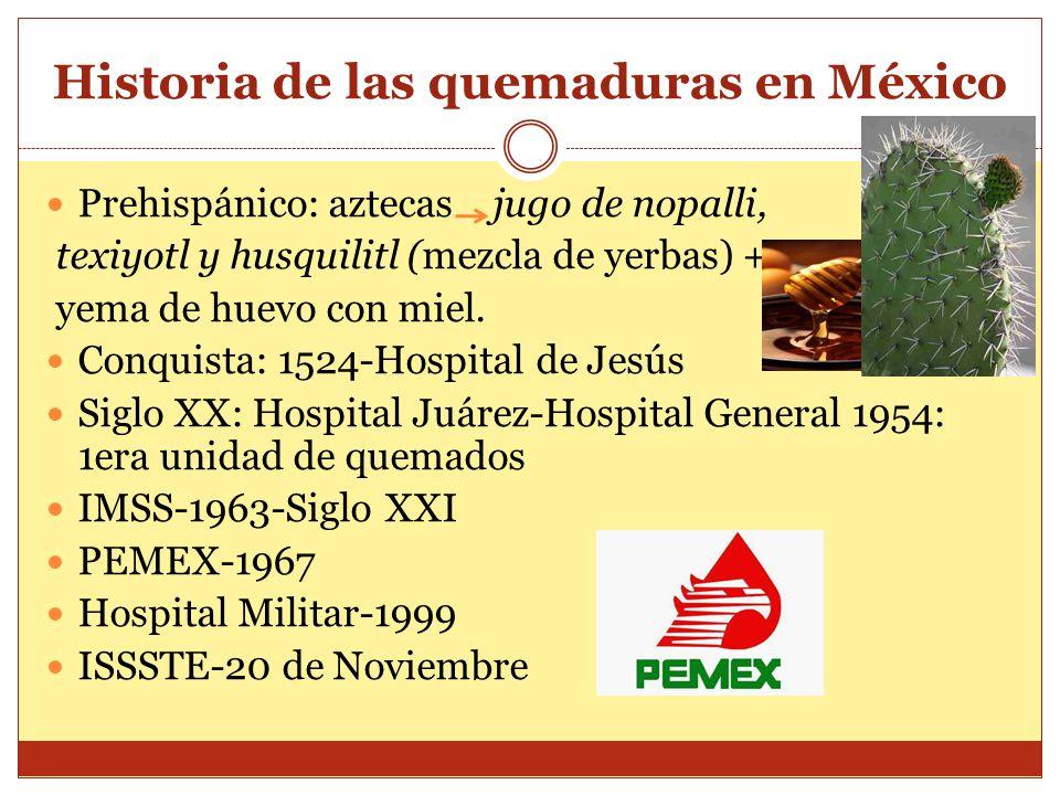 Historia de las quemaduras en México