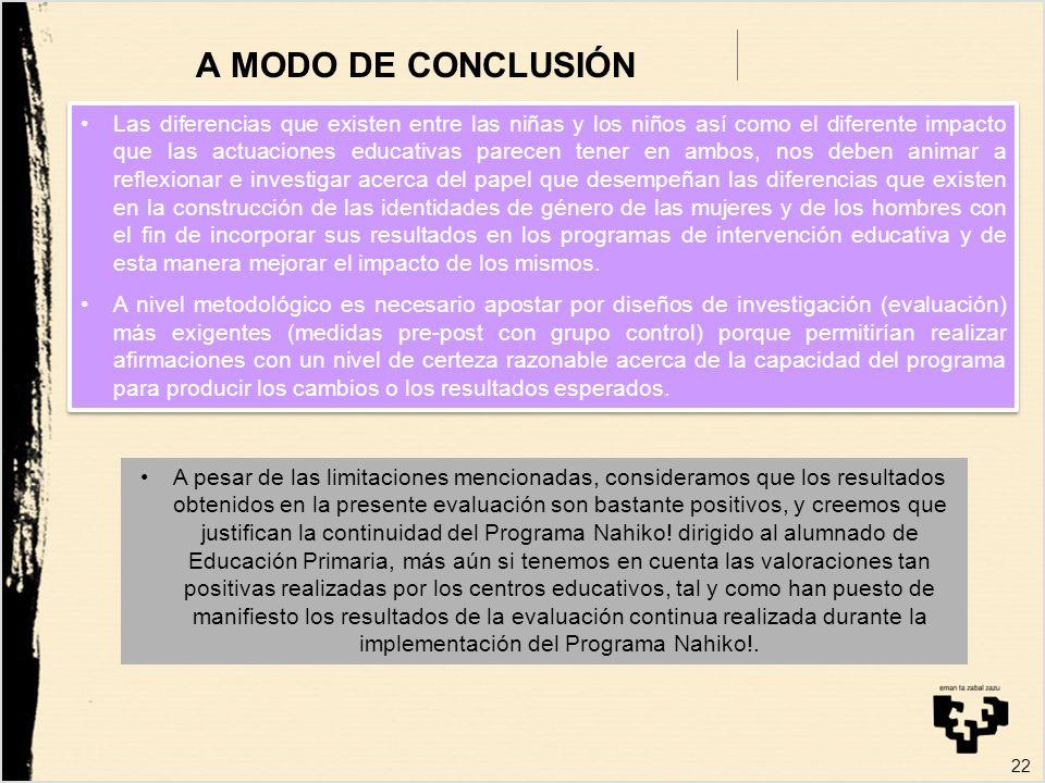 A MODO DE CONCLUSIÓN