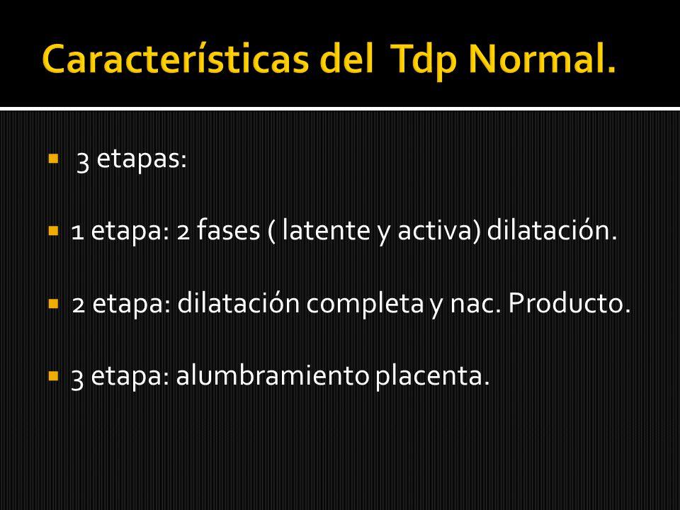 Características del Tdp Normal.