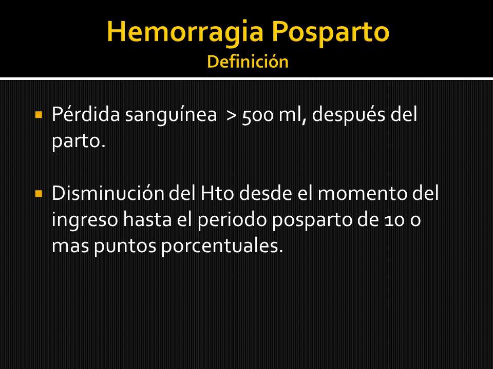 Hemorragia Posparto Definición