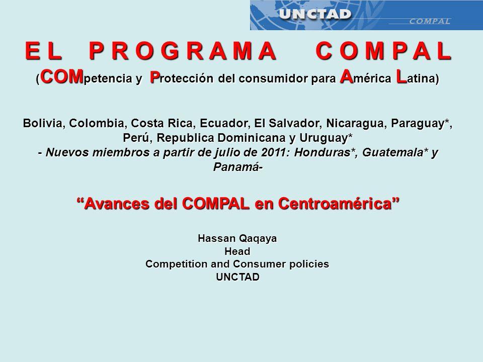 E L P R O G R A M A C O M P A L Avances del COMPAL en Centroamérica
