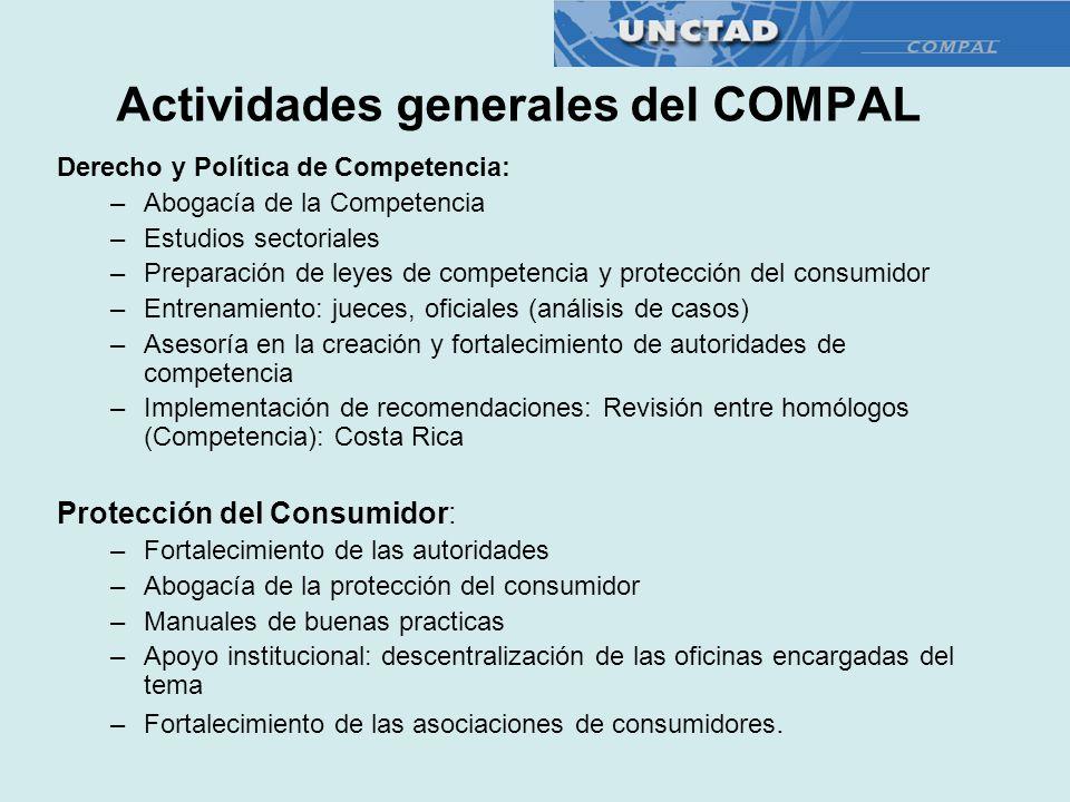 Actividades generales del COMPAL