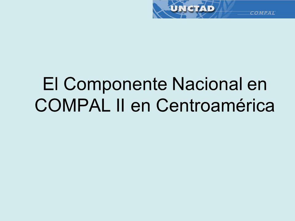 El Componente Nacional en COMPAL II en Centroamérica