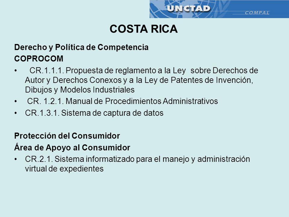 COSTA RICA Derecho y Política de Competencia COPROCOM