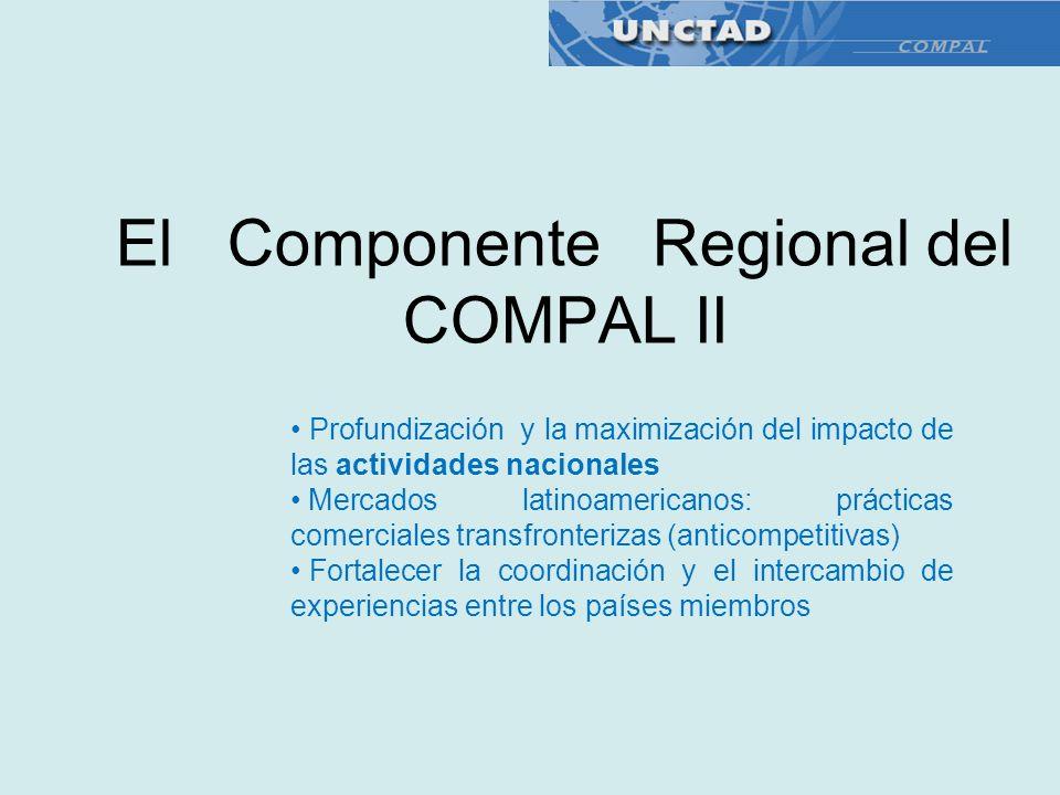 El Componente Regional del COMPAL II