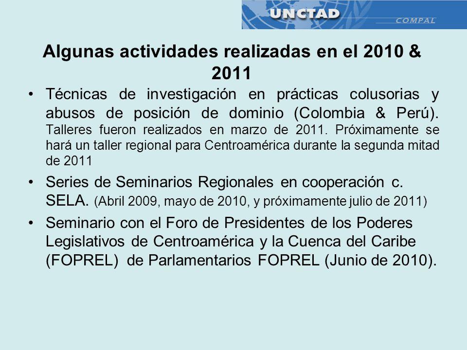 Algunas actividades realizadas en el 2010 & 2011
