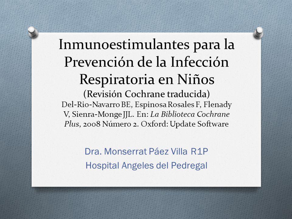 Dra. Monserrat Páez Villa R1P Hospital Angeles del Pedregal