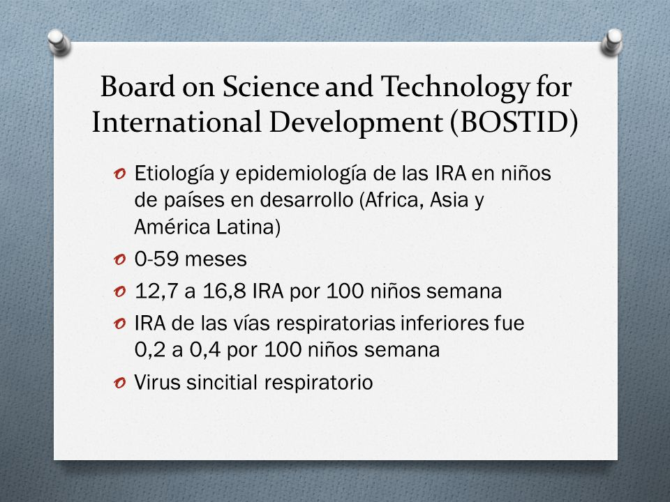 Board on Science and Technology for International Development (BOSTID)
