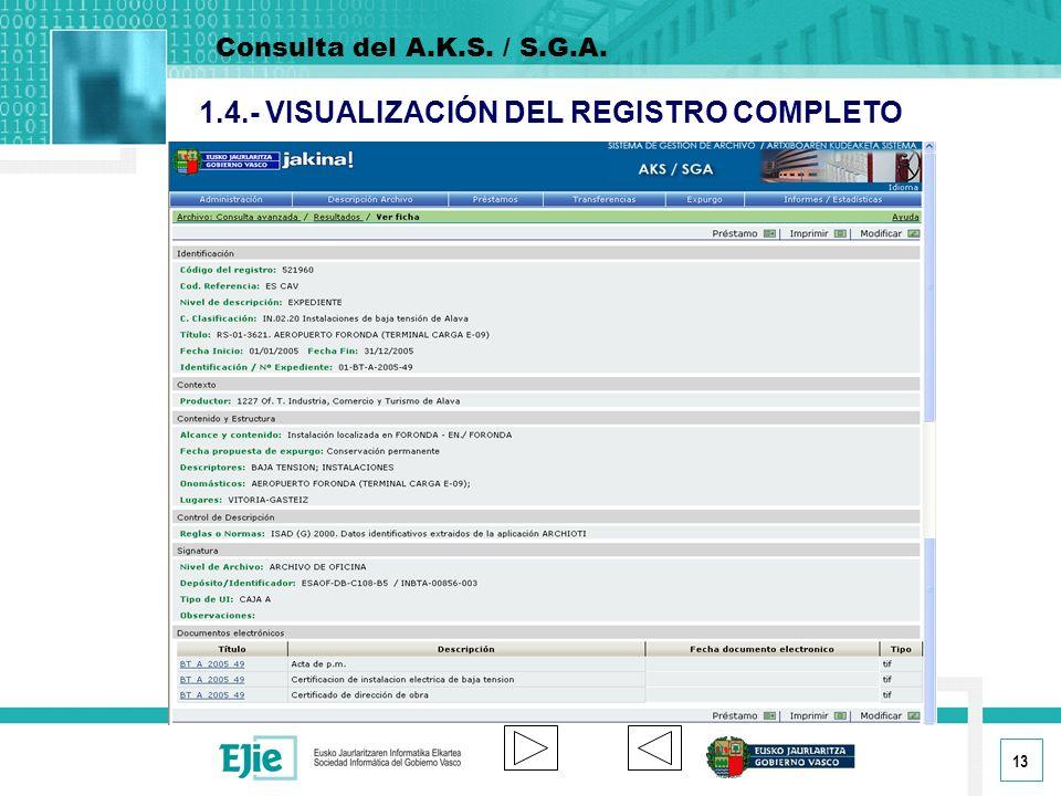 1.4.- VISUALIZACIÓN DEL REGISTRO COMPLETO
