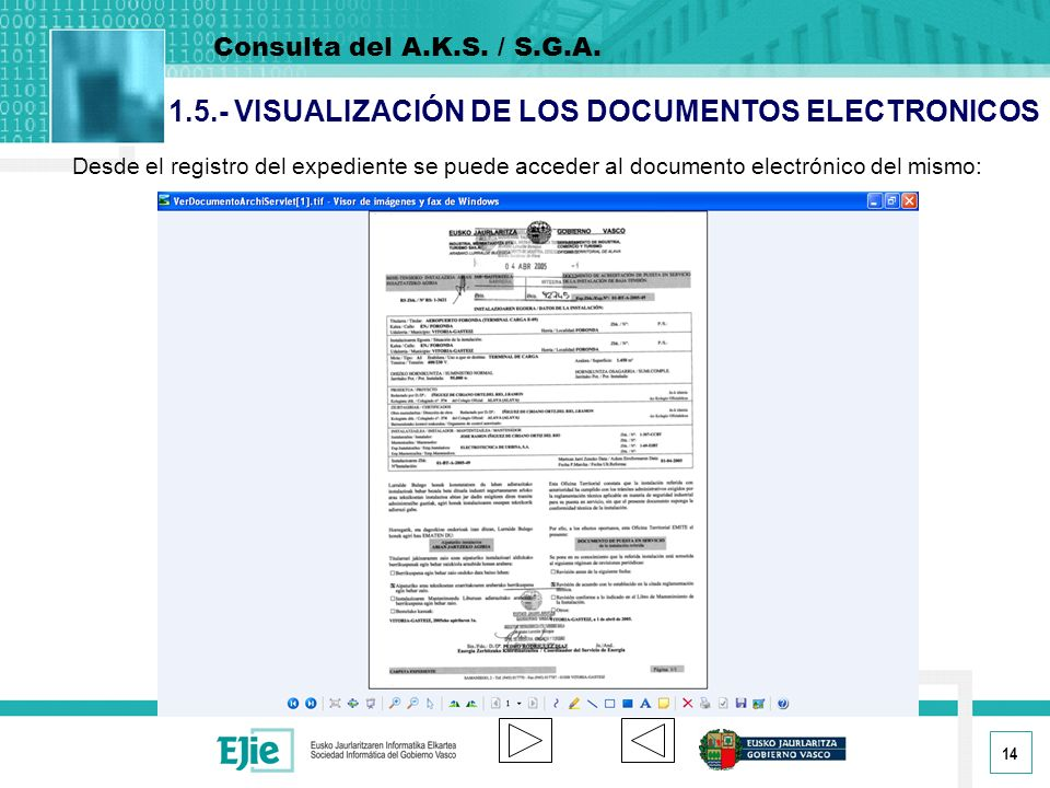 1.5.- VISUALIZACIÓN DE LOS DOCUMENTOS ELECTRONICOS