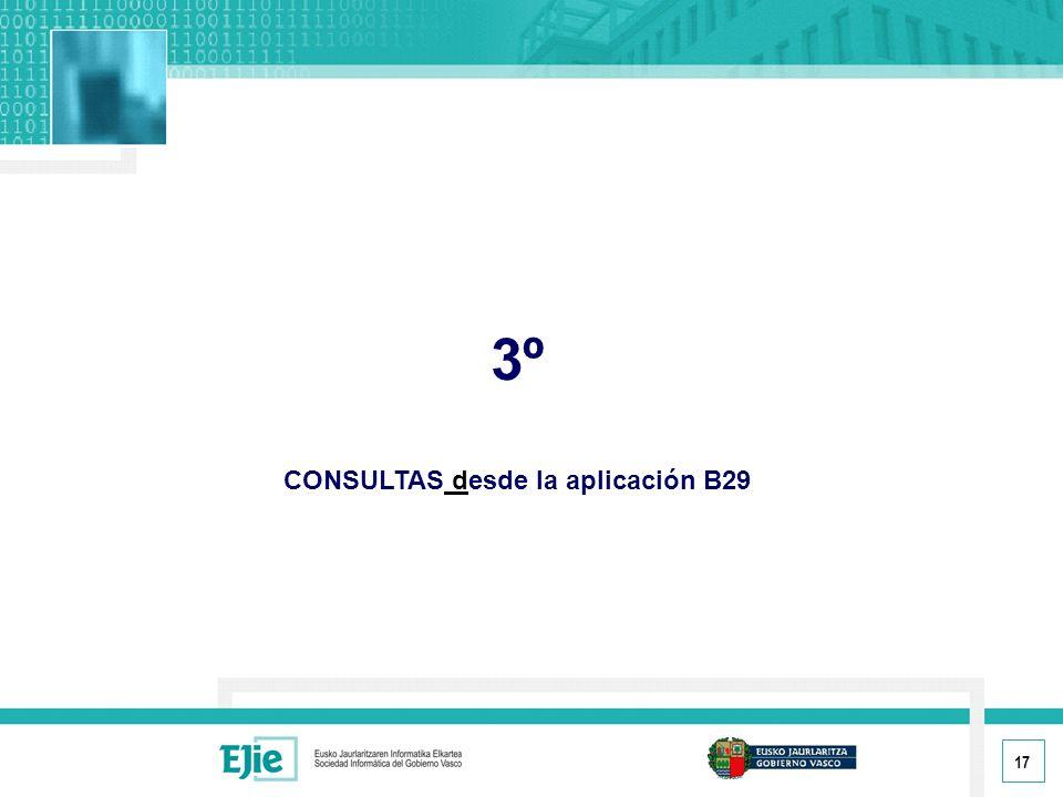 CONSULTAS desde la aplicación B29