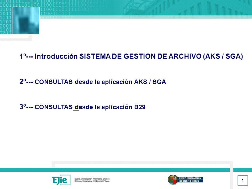 1º--- Introducción SISTEMA DE GESTION DE ARCHIVO (AKS / SGA)