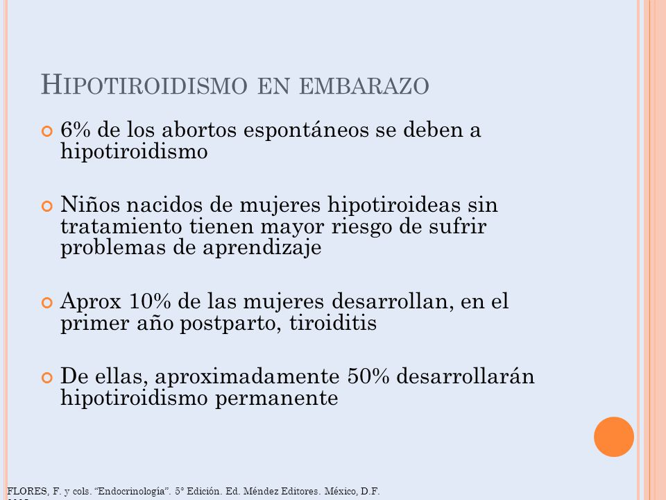 Hipotiroidismo en embarazo