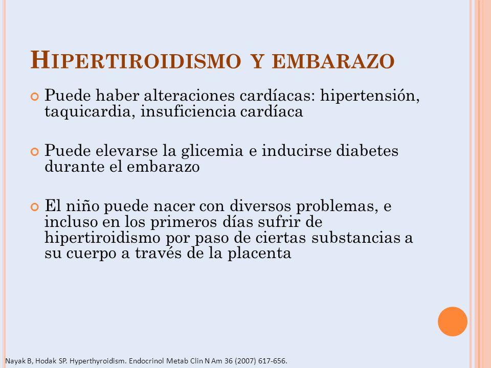 Hipertiroidismo y embarazo