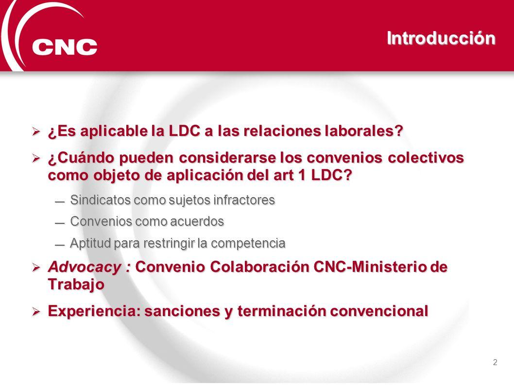 Introducción ¿Es aplicable la LDC a las relaciones laborales